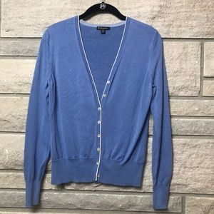 Brooks Brothers Pretty Blue Cardigan Sweater MED